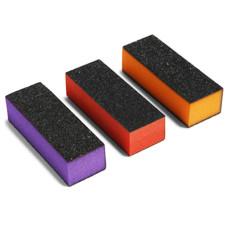Баф LPnails черн-оранж, голуб-черн, роз-черн