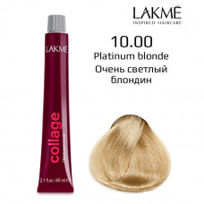 10/00 Белокурый платиновый крем-краска для волос 60 мл Collage Lakme