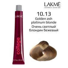 10/13 Золотисто-платиновый блондин крем-краска для волос 60 мл Collage Lakme