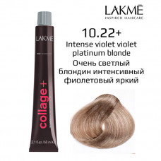 10/22 +  интен.фиолет.платиновый блонд крем-краска для волос 60 мл Collage Lakme