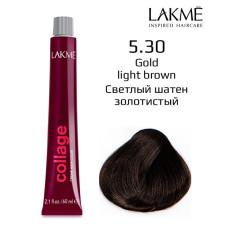 5/30 светло-каштановый золотистый крем-краска для волос 60 мл Collage Lakme