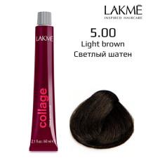 5/00 светло-каштановый крем-краска для волос 60 мл Collage Lakme