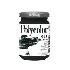 Акриловая краска черный слюдяной 140 мл в баночке