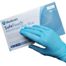 Перчатки нитриловые M голубые 50 пар