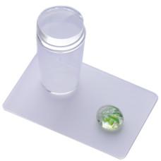 Штамп в прозрачном стаканчике