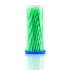 Микробраш для наращивания ресниц зеленый