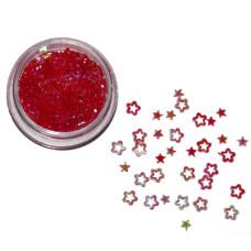 Звезды 3D красные голографические