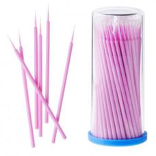 Микробраш для наращивания ресниц розовый