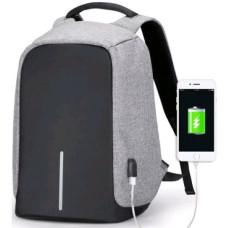 Рюкзак антивор (Antivor) c защитой от карманников и с USB, серый