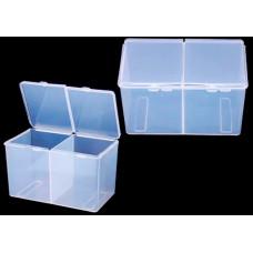 Контейнер пластиковый прозрачный 2 секции