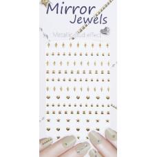 3D слайдер для дизайна ногтей Mirror Jewel - Point Gold