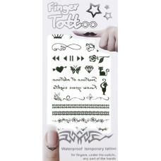 3D слайдер для дизайна ногтей Finger Tattoo - Cats&