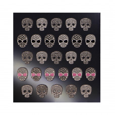 3D слайдер для дизайна ногтей Shiny Nail Applique - Dazzling Decoration  - Chic Skulls