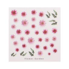 3D слайдер дизайн Design Nail Applique - Flower Garden -Faithful, Pure