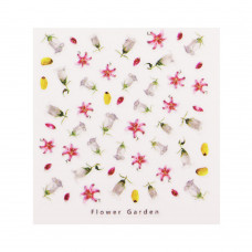 3D слайдер дизайн Design Nail Applique - Flower Garden -Loyal, Justice