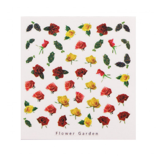 3D слайдер дизайн Design Nail Applique - Flower Garden -Passionate Love