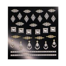 3D слайдер дизайн Shiny Nail Applique - Dazzling Decoration -Elegance Jewelry