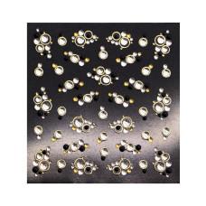 3D слайдер дизайн Shiny Nail Applique - Dazzling Decoration -Golden Bubble