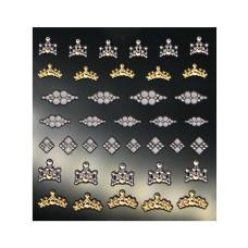 3D слайдер дизайн Shiny Nail Applique - Dazzling Decoration -Love Crown