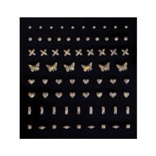 3D слайдер для дизайна ногтей Shiny Nail Applique - Hologram Jewel  - Butterfly&Heart