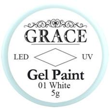 Гель-краска №01 White Grace