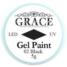 Гель-краска №02 Black Grace