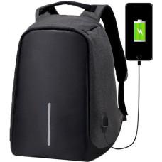 Рюкзак антивор (Antivor) c защитой от карманников и с USB, черный