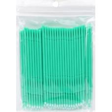 Микробраш для наращивания ресниц зеленый 100 шт