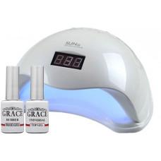 Набор лампа SUN5 UV/LED 48W + База + Топ Grace 8 мл