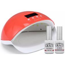 Набор лампа SUN5se Orange UV/LED 50W + База + Топ Grace 10 мл