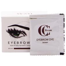 Краска для бровей CC Brow 1 + 1, brown (коричневый) (1 саше с гель-краской, 1 саше с окислителем)