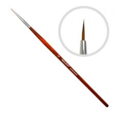 Кисть для рисования натуральная №1 (красная ручка)