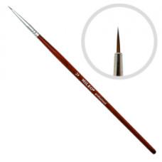 Кисть для рисования натуральная №2 (красная ручка)