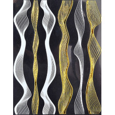 3D наклейка LPnails волна. Белый+золото