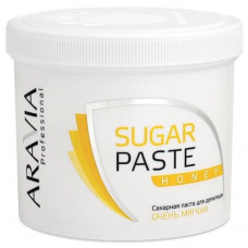 Сахарная паста для депиляции Медовая очень мягкая Aravia Professional 750 г/8