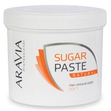 Сахарная паста для депиляции Натуральная мягкая ARAVIA Professional 750г/8