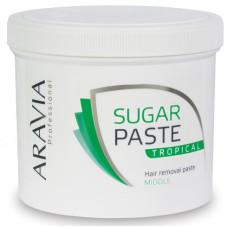 Сахарная паста для депиляции Тропическая средняя ARAVIA Professional 750г/8