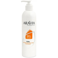 Гель для обработки кожи перед депиляцией Алоэ Вера и Ромашка ARAVIA Professional 300мл/16