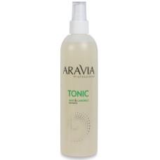 Тоник для очищения и увлажнения кожи с мятой и ромашкой Aravia Professional 300 мл/16