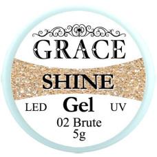 Фольгированный гель Grace SHINE 5 g, Brute