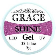 Фольгированный гель Grace SHINE 5 g, Lilac