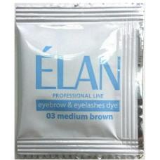 ELAN Краска для бровей и ресниц №02 Темно-коричневая 5г