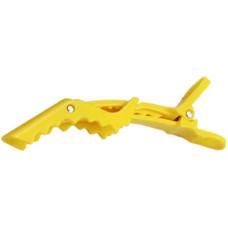 Зажим крокодил для волос Avadona желтый
