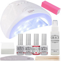 """Набор для покрытия ногтей гель-лаком """"Старт"""" + лампа SUNone UV/LED 48W White"""