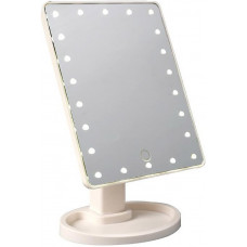 Зеркало с LED подсветкой AVADONA на подставке. Белый