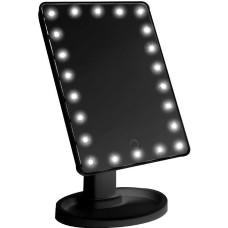 Зеркало с LED подсветкой AVADONA на подставке. Черный