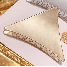 Заколка-крабик для волос AVADONA треугольник. Золото