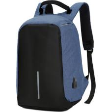 Рюкзак антивор (Antivor) c защитой от карманников и с USB, синий