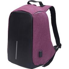 Рюкзак антивор (Antivor) c защитой от карманников и с USB, фиолетовый