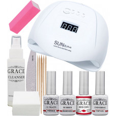 "Набор для покрытия ногтей гель-лаком ""Старт"" + лампа SUN X Plus 120W UV/LED"